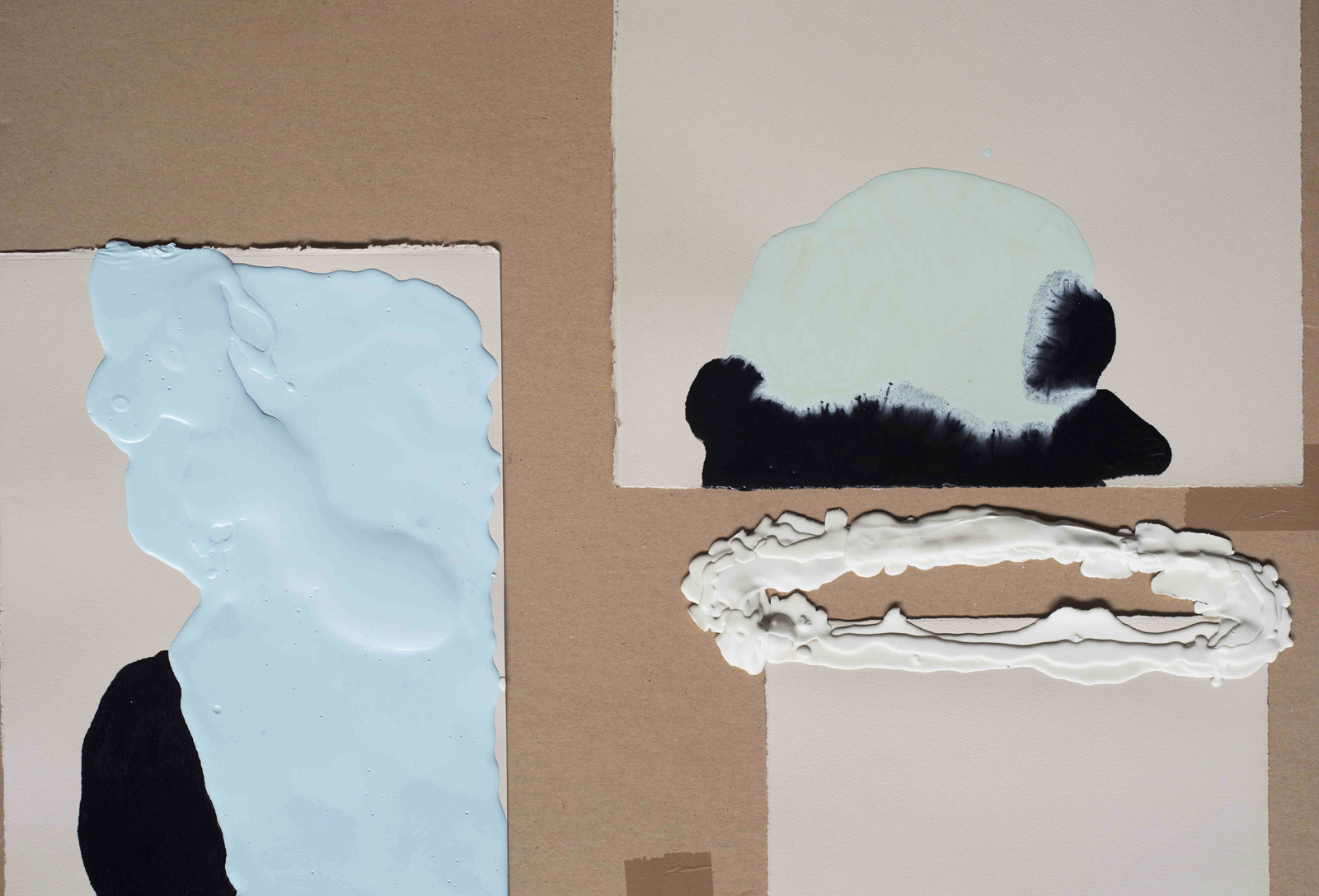 Works on paper | Nicola Ellis | 2014 | household paint, plasticine, paper | variable sizes | image: Stephen Iles Photography
