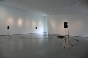The Search | Victoria Lucas | 2010 | sound installation | speakers, speaker stands, cables | installation view: Hepworth Gallery, Wakefield, UK | image: courtesy of the artist