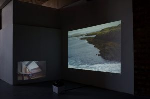 Make Place   Sophie Lee   2017   video installation   2-channel video   installation view: ArtWork Atelier, Salford, UK   image: courtesy of the artist
