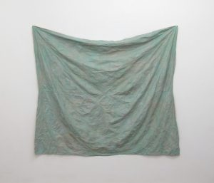 Sea Slip | Charlie Franklin, 2017 | tarpaulin, Dutch metal, oil, nylon | 198cm x 175cm | image: courtesy of the artist