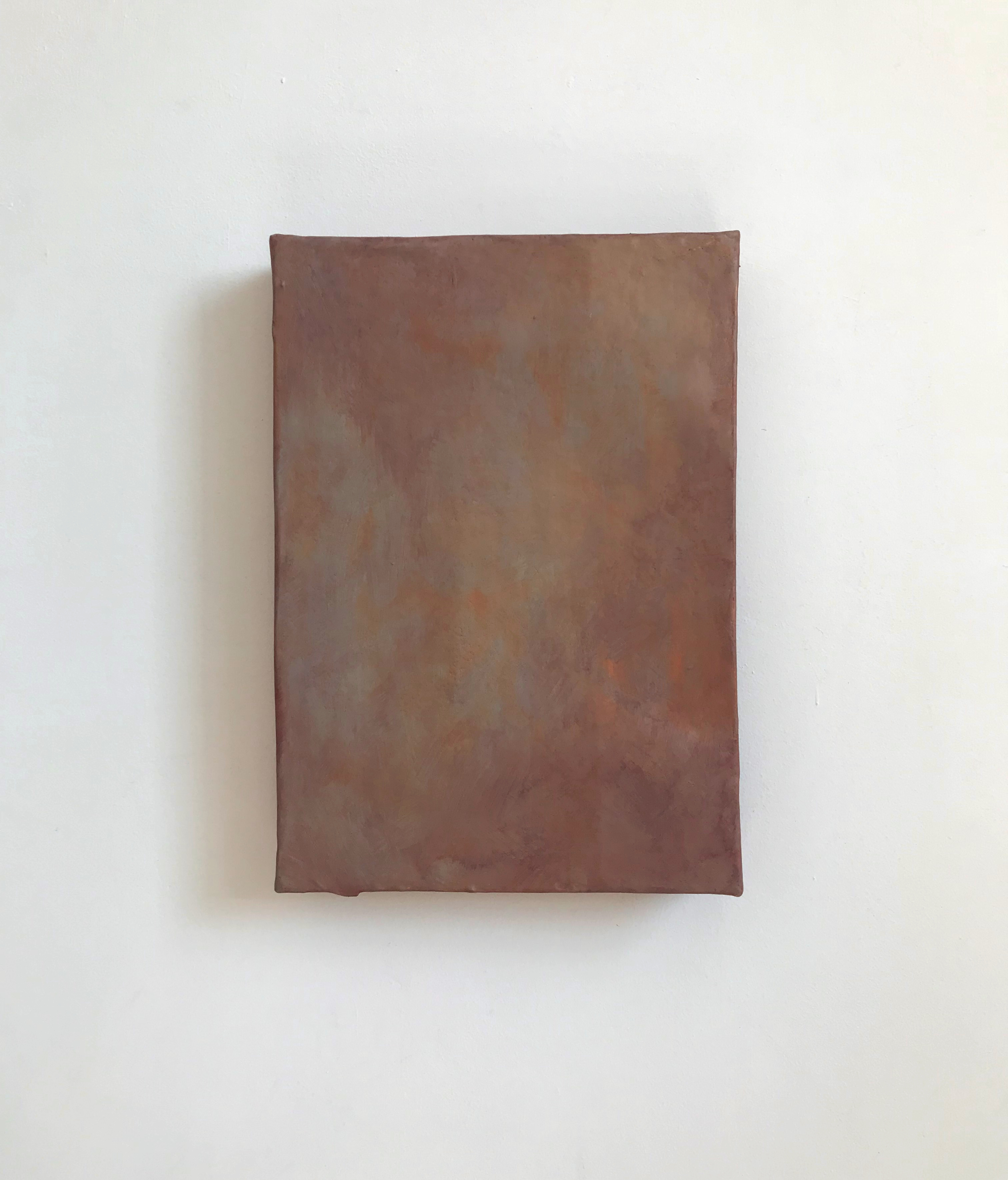 Afterglow | Charlie Franklin, 2018 | oil, metallic paint, chalk paint, emulsion, gesso, cardboard | 35cm x 24.5cm x 5cm | image: courtesy of the artist