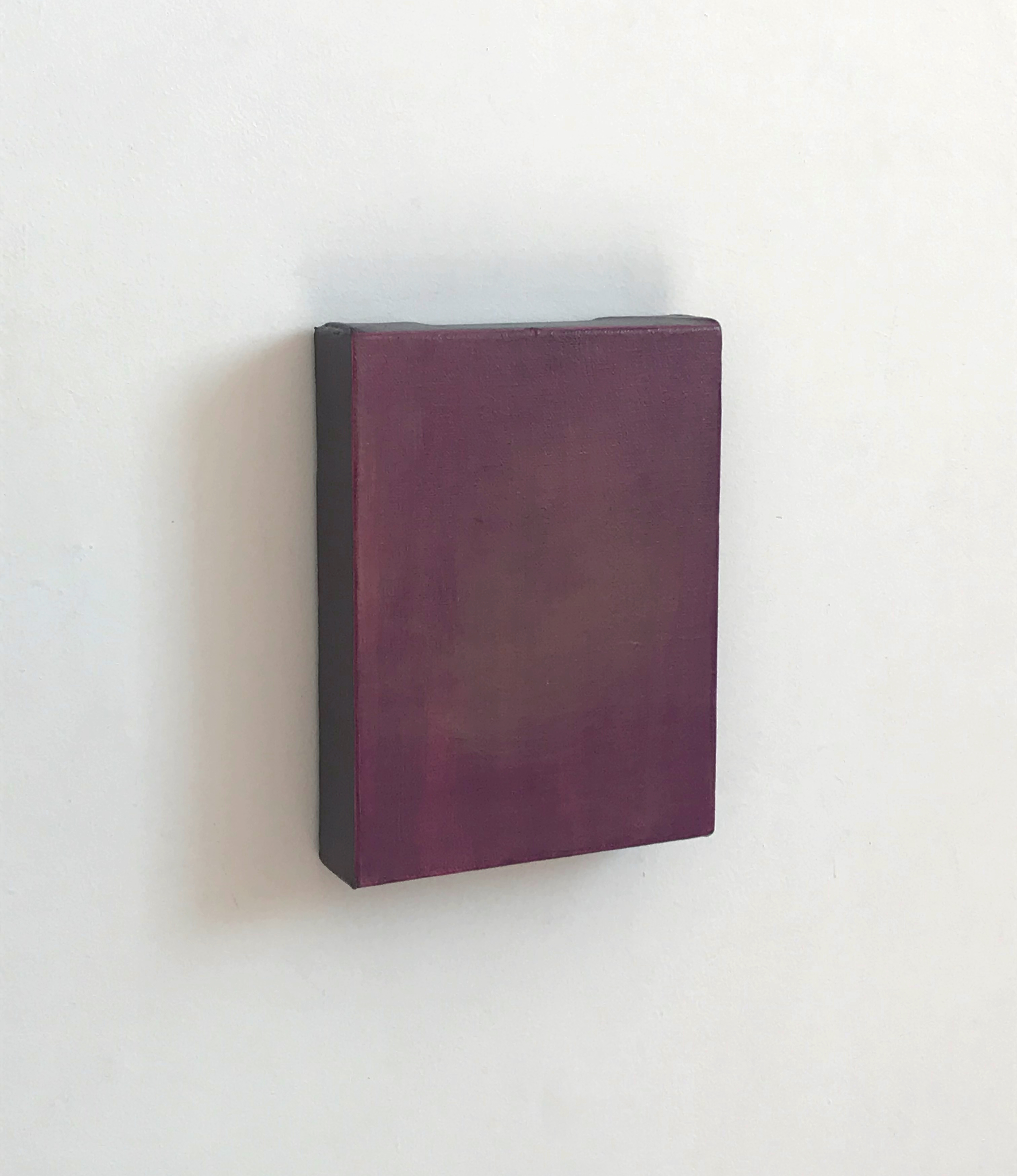 Oxblood | Charlie Franklin, 2018 | oil, acrylic, canvas, wooden support | 20cm x 15cm x 4cm | image: courtesy of the artist