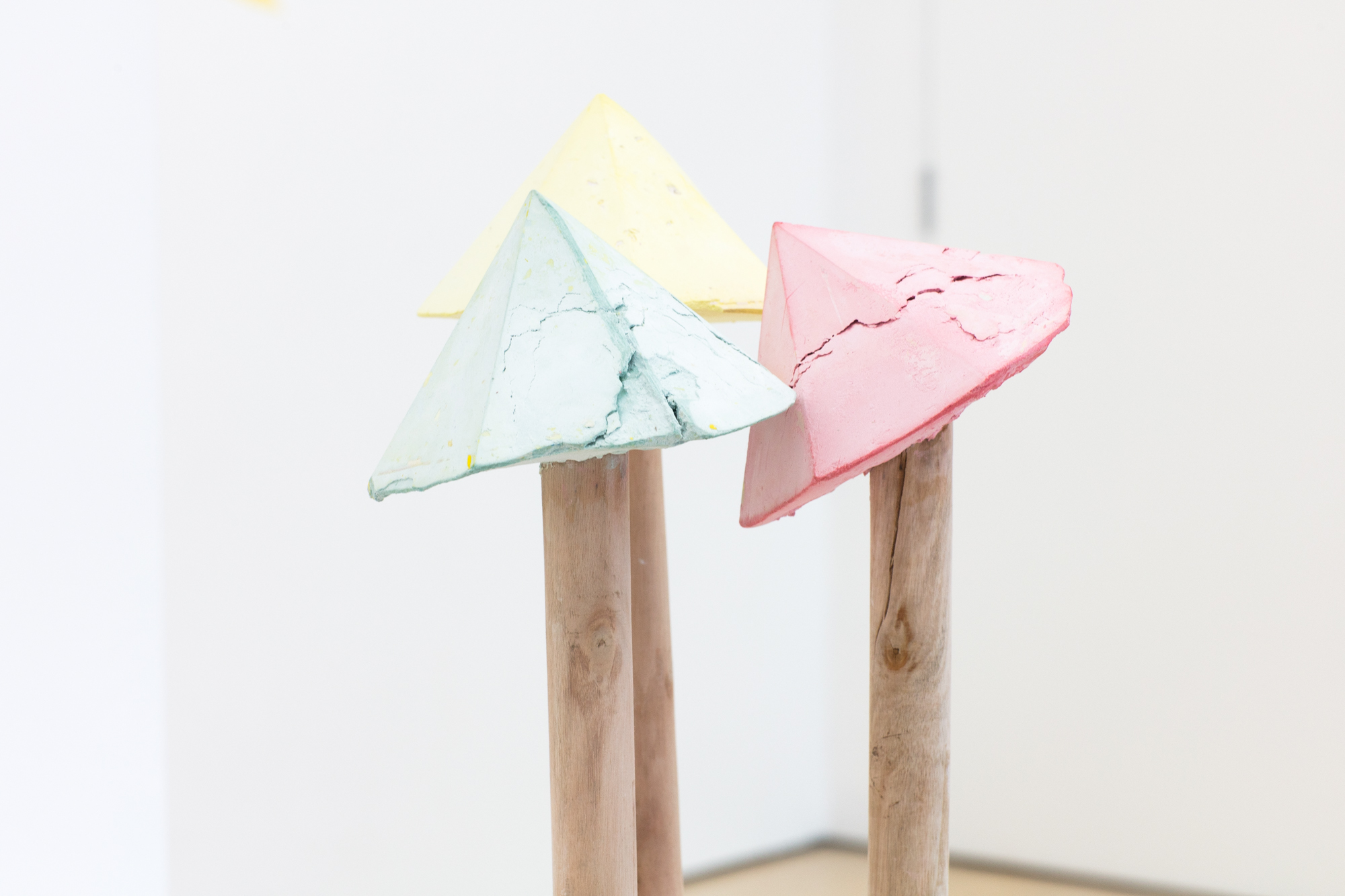 Fell Over on The Way to School | Pippa Eason | 2019 | plaster, jesmonite, plasticine, wood | 25cm x 130cm | image: Liz Calvi