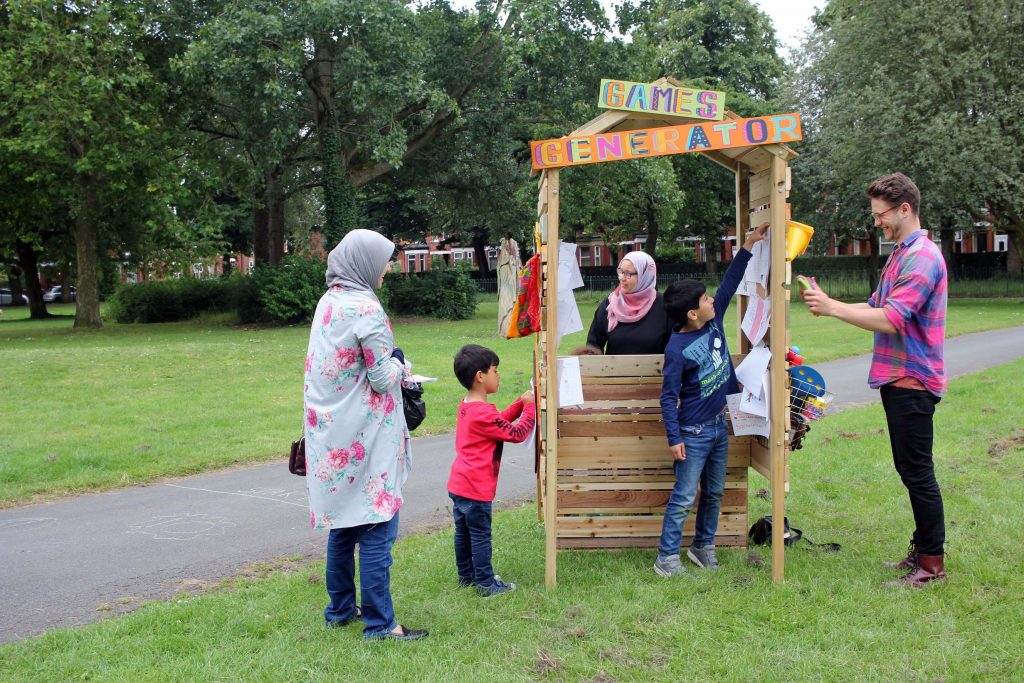 Games Generator | Anna Horton Cremin | 2019 | I Love Parks Week, Manchester, 2019 | image: courtesy of the artist