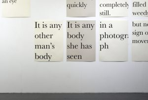 Always something moves | Sophie Lee, 2020 | text installation | installation view: Bankley Gallery, Manchester | dimensions variable | image courtesy of the artist