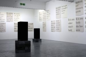 Always something moves | Sophie Lee, 2020 | mixed media: text & sound | installation view: Bankley Gallery, Manchester | dimensions variable | image courtesy of the artist